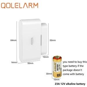 Image 4 - Qolelarm open/close 2 signals 10pcs/lot 433mhz Wireless magnetic door window detector alarm sensor with built in antenna
