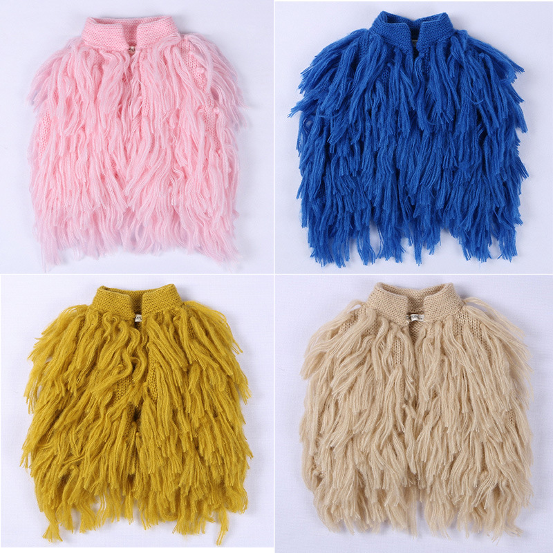 5c5a1760c hand made baby girls fringed vest brand kids waistcoat Autumn Winter ...