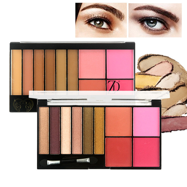 ZD Professional Eyeshadow 6 Colors Pigment Eye Shadow Palette 4 Colors  Blusher Women s Beauty Cosmetics Maquiagem b026288ba7
