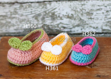 Crochet baby girl shoe  Baby shoes with bow – Crochet baby booties