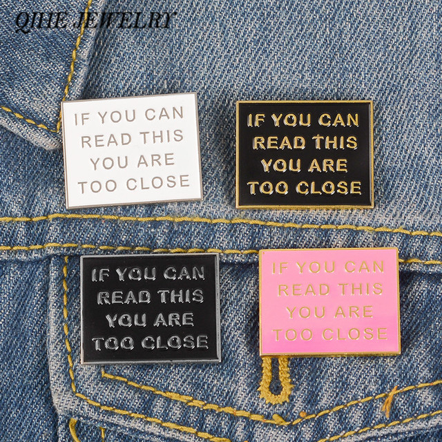QIHE JEWELRY Funny Letter pins Need Personal Space Badges Cool Anti Social Lapel pins Introverts Personality Symbol Brooches