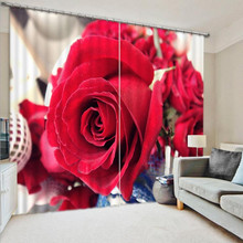Romantic 3D Curtains Bedding Room Living Room or Hotel Drapes Cortians Sunshade Window Curtain Wedding Curtains