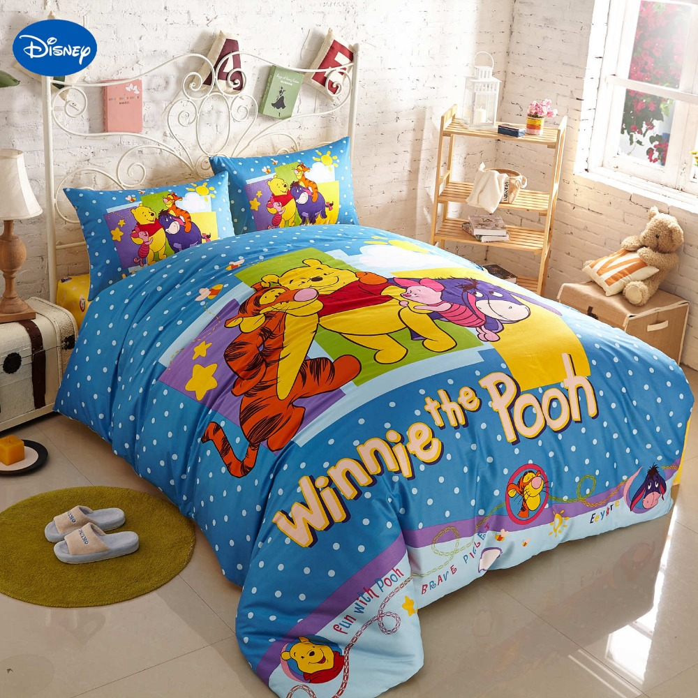 Winnie the pooh toddler bedding - Disney Cartoon Winnie The Pooh Piglet Tigger Bedding Set For Children S Bedroom Decor Cotton Bed Cover