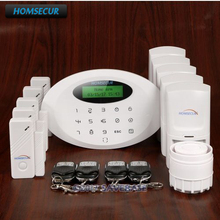 HOMSECUR Wireless GSM Burglar Alarm System With Self-adhesive Security Sticker