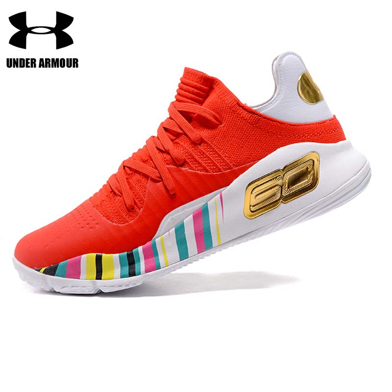 Under Armour Men Basketball Shoes Curry 4 low top Training Boots zapatillas hombre deportiva Stephen Curry Sport Shoes hot sale under armour men curry 5 basketball shoes stephen curry sport basketball sneakers male training unique socks design sport shoes