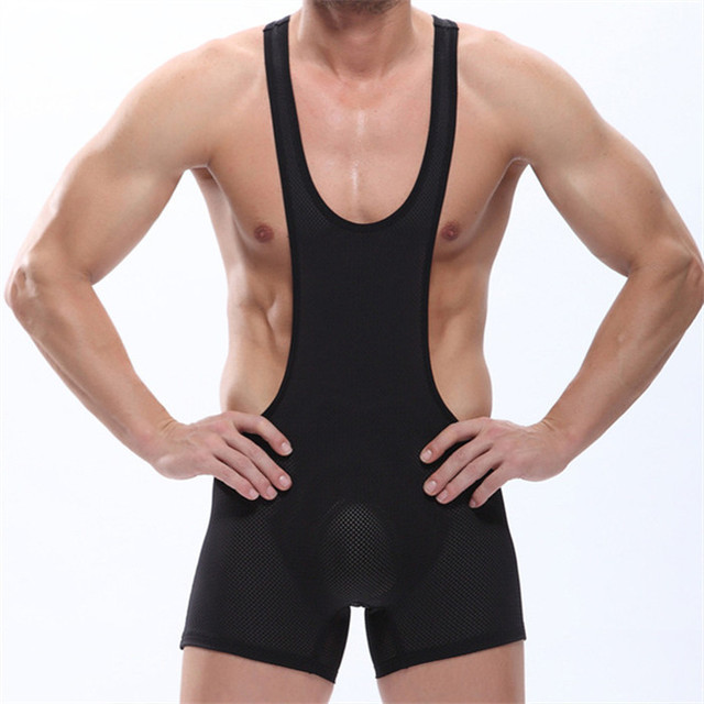 Strong Men's Sexy WRESTLING SINGLET Stretch Good Quality Breathable Mesh Underwear Jumpsuit bodysuit