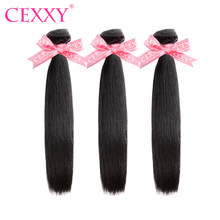 Cexxy 6A Straight Brazilian Hair Weave Bundles Remy Hair 1/3/4pcs 8inch-28inch Human Hair Extension Free Shipping(China)