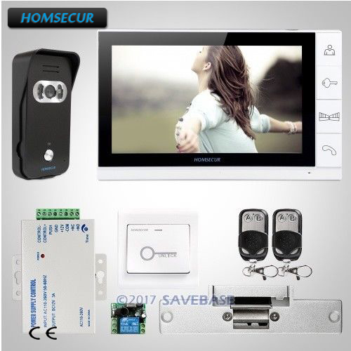 HOMSECUR 9 Video Door Entry Security Intercom+Sensor-Controlled IR Lights for Quality Night Vision