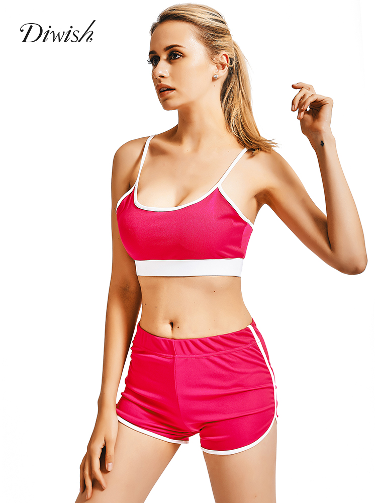 Diwish Sports Bra Yoga Shorts 2pcs Sport Suits Yoga Set Women Fitness Clothing Running Sportswear Workout Gym Wear Suit Outfits Yoga Sets Aliexpress