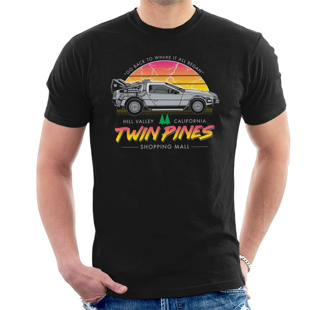 Back to The Future Twin Peaks Twin Pines Mens T-Shirt