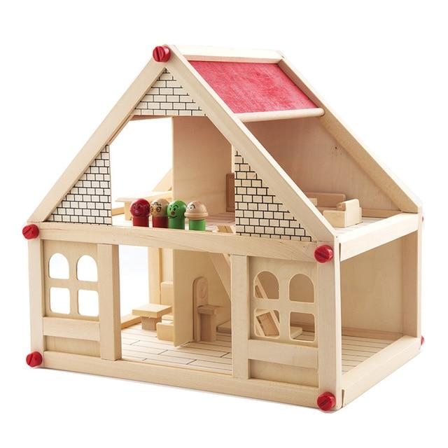Diy Kit Dollhouse Jouet Simulation Petite Villa De Construction En