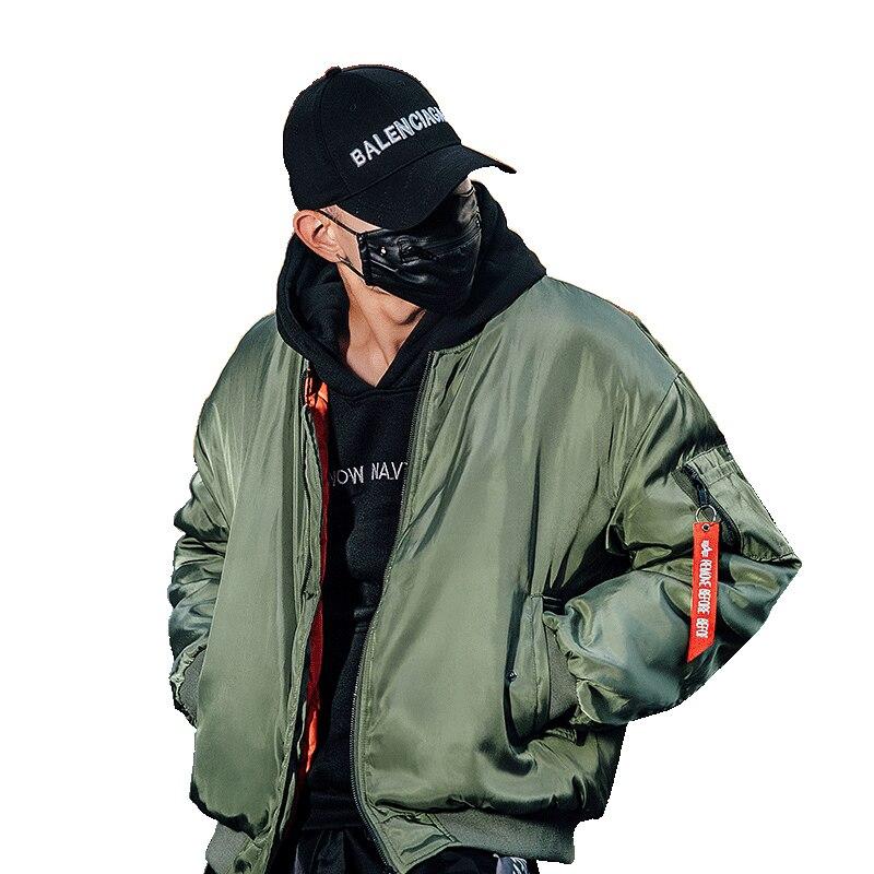 Bormandick winter jacket men 2018 Winter Jacket Men Thick Warm Solid Color mens Coats Coat KXP18-CH01 85