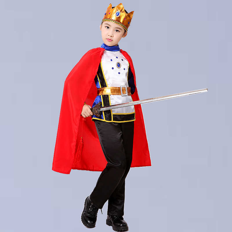Halloween Kostum Anak Laki-laki Seragam Anak Raja Pangeran Menunjukkan Pakaian untuk Pesta cosplay dan Hadiah Natal