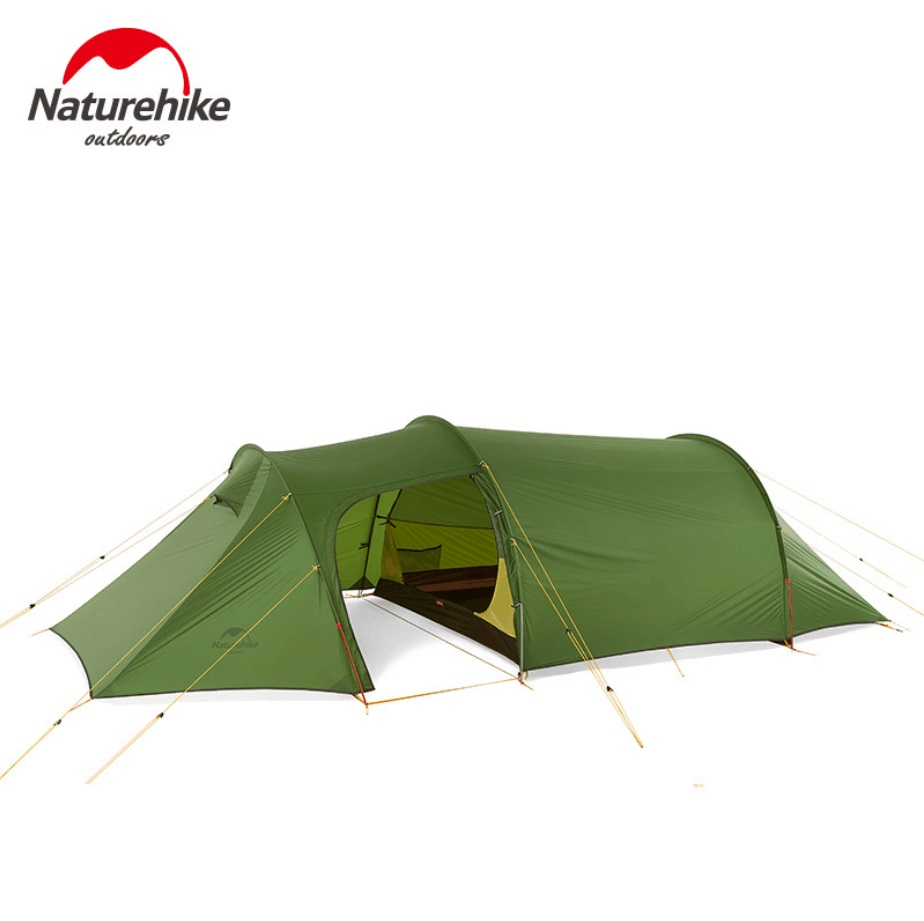 Naturehike ultralight  Opalus Tunnel double Tent outdoor hiking camping 3 Persons one bedroom & one Living room tent