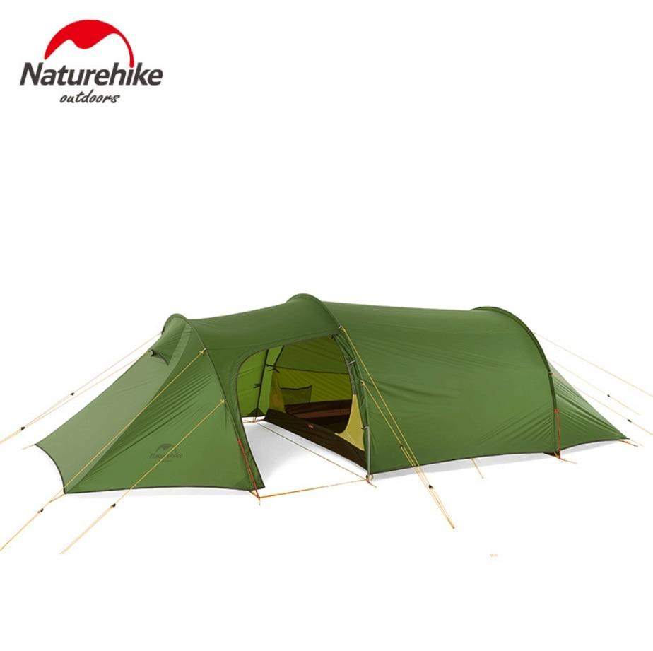 Naturehike ultralight Opalus Tunnel double Tente de randonnée en plein air camping 3 Personnes avec une chambre et un salon tente