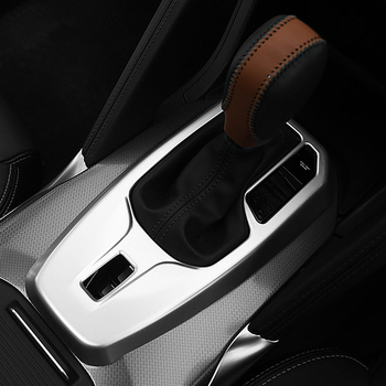 Absクローム車のギアシフトノブフレームパネルカバートリム用ルノーコレオス2017 2018カースタイリングアクセサリー