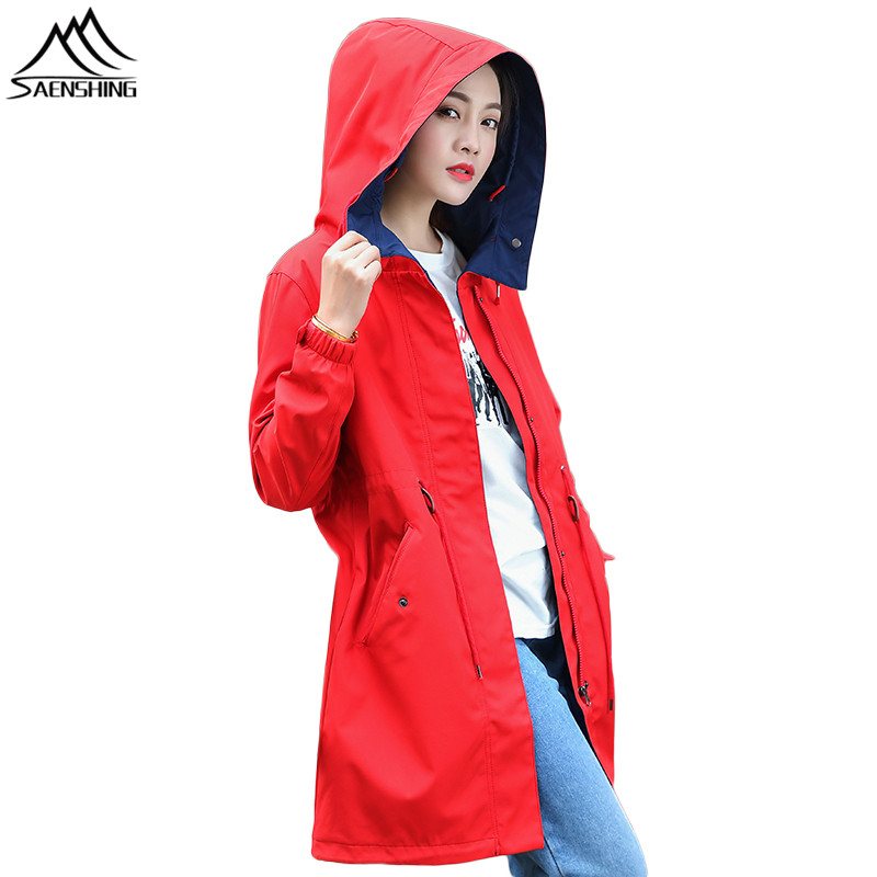 SAENSHING Waterproof Softshell Jacket Women long Windbreaker Camping Hiking Fishing Outdoor Rain Jacket Softshell Coat Female ветровка dickies softshell jacket navy