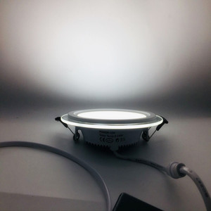 Image 5 - 2019 nouveau 3 changement de couleur verre led panneau lumineux LED plafond encastré lumière AC85 265V LED Downlight SMD 6W 9W 12W 18W éclairage à la maison