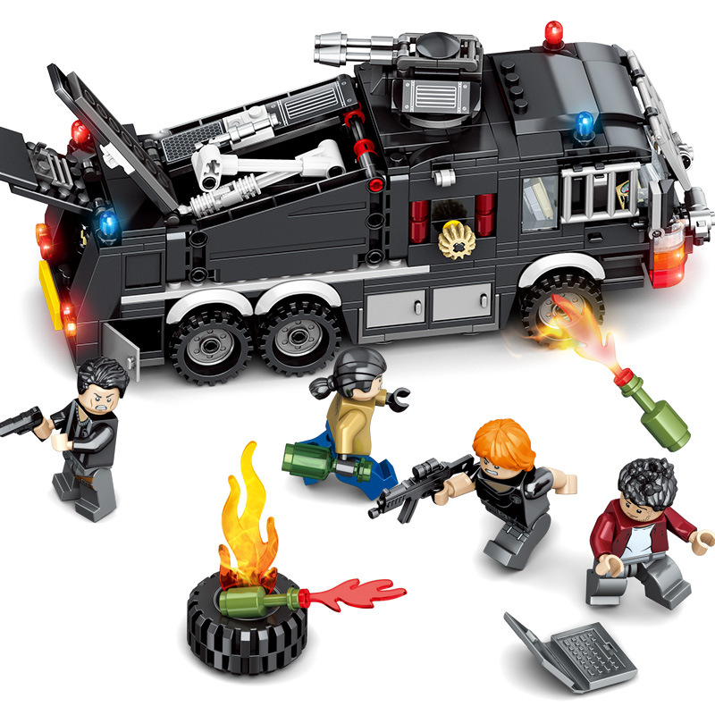 503pcs Children s building blocks toy Compatible city Special team maintenance water tanker special police series