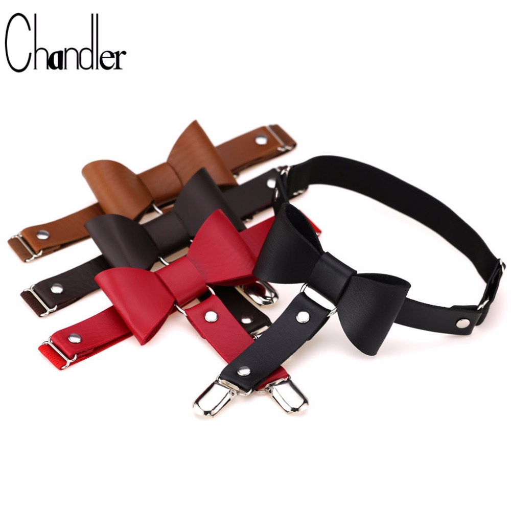 Chandler Bowknot Leg Necklace Belt For Women Fashion Punk Gothic PU Leather Pastel Gothic Harness Garter Stockings Choker Colier image