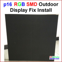 P16 RGB outdoor led wall, 76.8cm x 76.8cm,30 x 30,smd new design,best effect,smd p16 led full color outdoor display screen