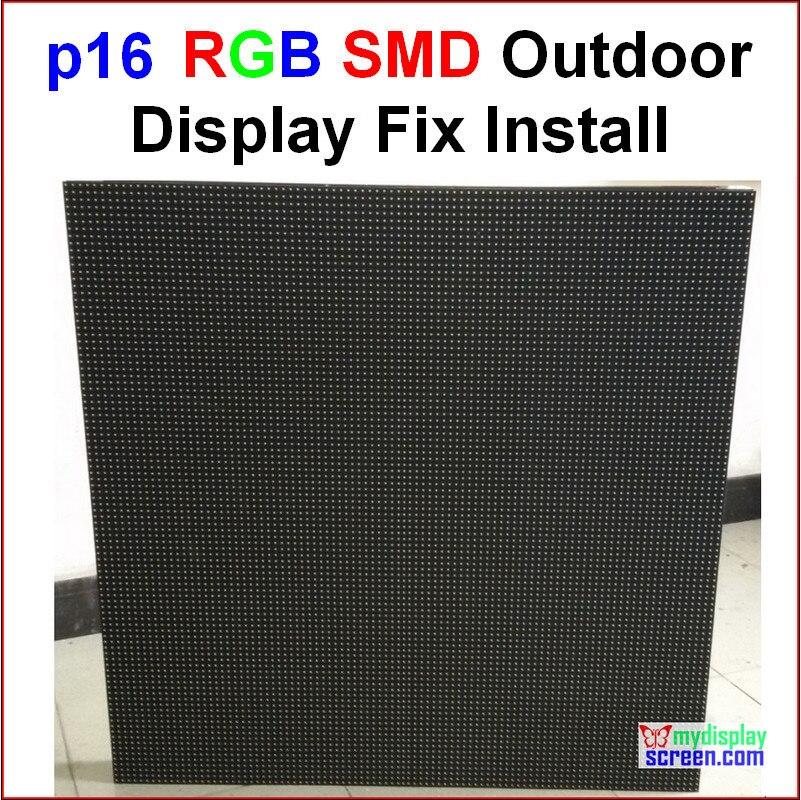 """P16 rgb parede led ao ar livre, 76.8cm x 76.8 cm, 30 """"x 30"""", smd novo design, melhor efeito, smd p16 led cor cheia tela de exibição ao ar livre"""