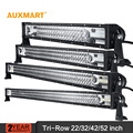 "Auxmart 22/32/42/52 ""Tri-Row LED Light Bar offroad combo feixe 12 24 v bar luz campista reboque do caminhão 4X4 4WD ATV SUV UTV UTV RZV"
