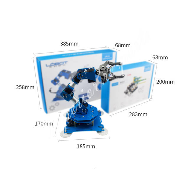 US $224 99 |XArm 6DOF Full Metal Robotic Arm Manipulator with  Scratch/Arduino Remote Control for DIY Educational-in Parts & Accessories  from Toys &