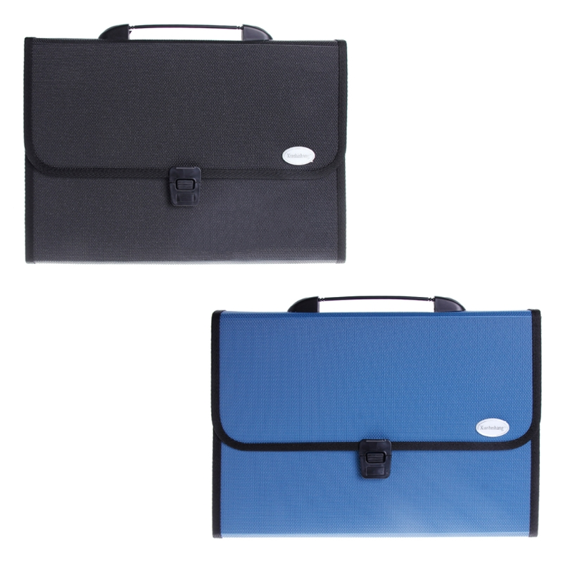 1 Pc A4 Business Document Storage Expandable File Folder Office waterproof Briefcase New Design deli a4 size folder document bag expandable filing storage document file folder organizer expander holder bag business briefcase