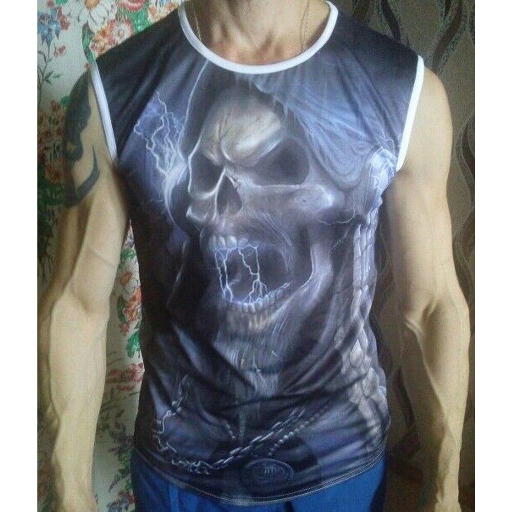 FORUDESIGNS Punk Skulls Designer Cotton Tank Top para hombre de - Ropa de hombre - foto 6