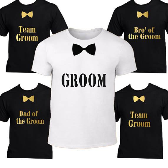 a637c535b16f4 US $16.09 17% OFF|Personalized groom Groomsmen wedding t shirt tank tops  singlets Bachelorette Party vests gifts favors-in Party Favors from Home &  ...