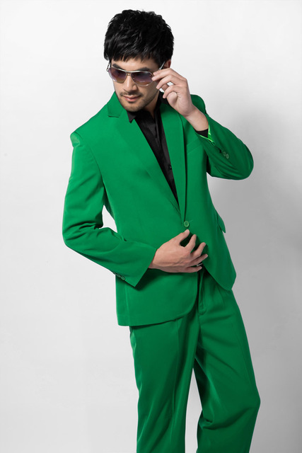 2015 Men's Wedding Suit formal dress male green suit multicolour formal dresses men's clothing groom tuxedos wedding suit