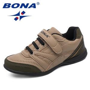 BONA Boys Shoes Sneakers Jooging Children New Outdoor Loop Hook Comfortable Classics-Style
