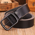 2017 new arrival mens genuine leather belt luxury brand casual leather strap designers belts men black cowboys jeans Z0056