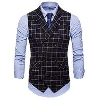 a9767a28a794d The New D Suit Vest Men Jacket Sleeveless Beige Gray Brown Vintage Tweed  Vest Fashion Spring. Nowy d Garnitur Kamizelka Mężczyźni Kurtki ...