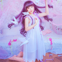 цена на CARDCAPTOR SAKURA KINOMOTO Sakura cosplay costume cos dress sweety and lovely style daily clothing