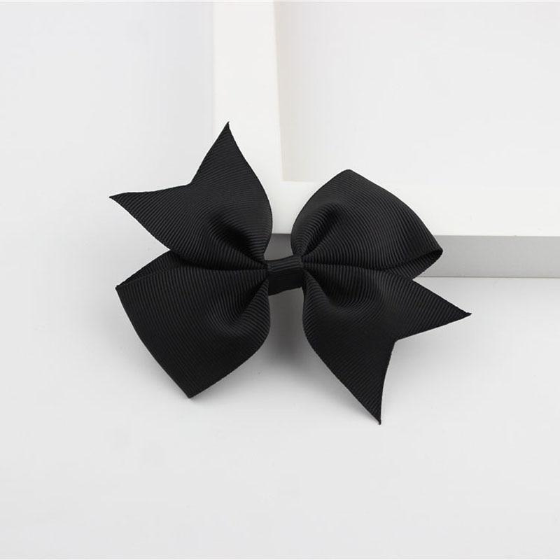 Новые модные маленькие заколки для волос для маленьких девочек, милые заколки для волос карамельного цвета с цветком, детские заколки, аксессуары для волос - Цвет: a01 Black