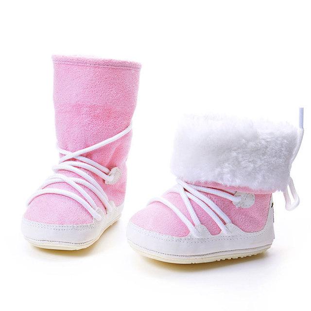 Zapatos Antideslizantes Zapatos del Niño Del bebé Caliente 2017 Invierno Nueva Niños lindos Zapatos Engrosadas Botas Zapatos de Bebé de Cinco Colores Nuevos llegadas