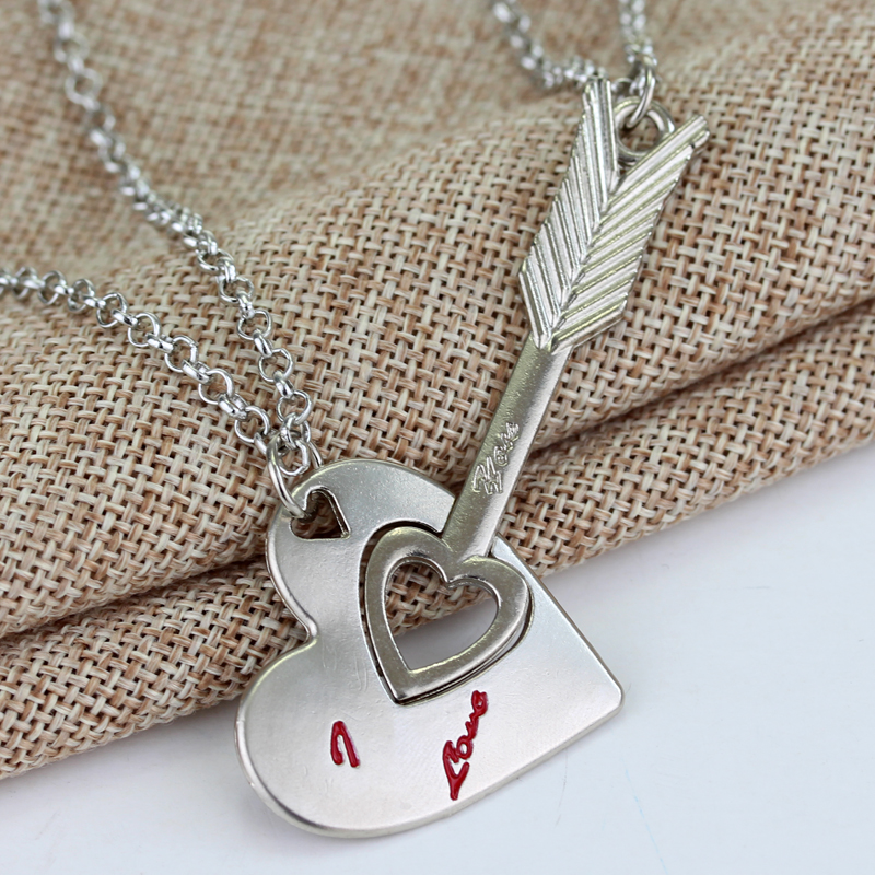 Couple Lovers Necklaces & Pendants Chain Necklaces I Love U wedding party jewelry Valentines day gifts My life only you