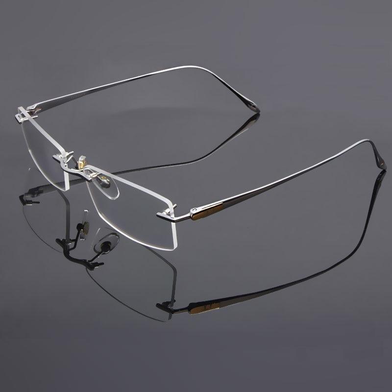 Reven Jate სათვალეები Rimless Eyeglasses Titanium - ტანსაცმლის აქსესუარები - ფოტო 4