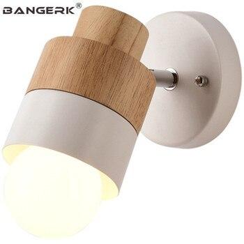 北欧デザイン調整燭台 Led 壁ランプロフト鉄木寝室のベッドサイドウォールランプホームインテリアのための屋内照明器具