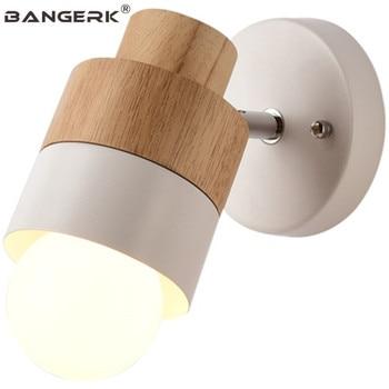 Nordic Ontwerp Passen Schansen LED Wandlamp Loft Ijzer Hout Slaapkamer Bed Wandlamp Voor Home Decor Indoor Verlichting