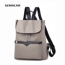 Casual Female Backpack Oxford Cloth Waterproof Solid Color Fashion Women Large-capacity Bag Student Travel
