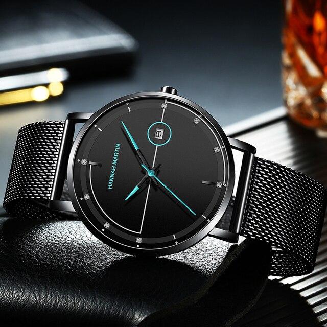 Men Watch Date Top Brand Luxury Japan Movement Quartz Casual Sport Stainless Steel Ultra Thin Waterproof Watch Relogio Masculino 3