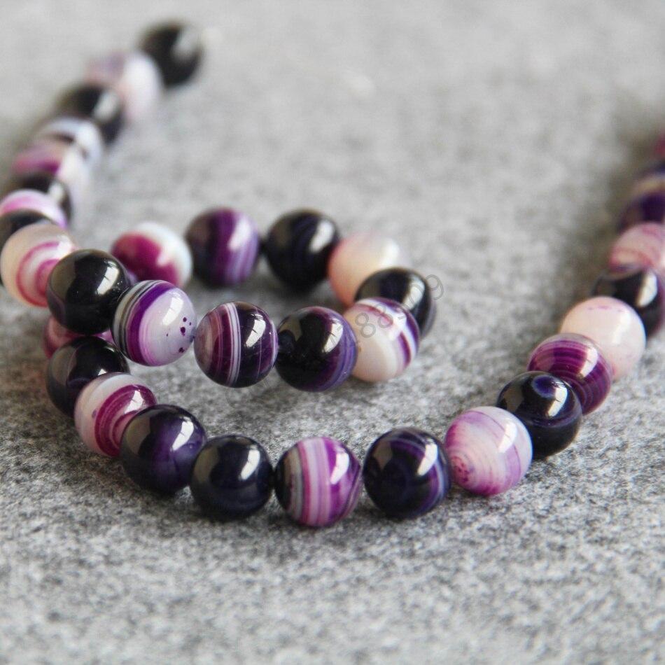 Fashion Perhiasan Pertama 10mm Ungu Stripe Akik Beads Putaran Keran Plastik Taman 02 302 Setengah Inch Bentuk Batu 15 Berkualitas Tinggi Jadi Kalung Ornamen