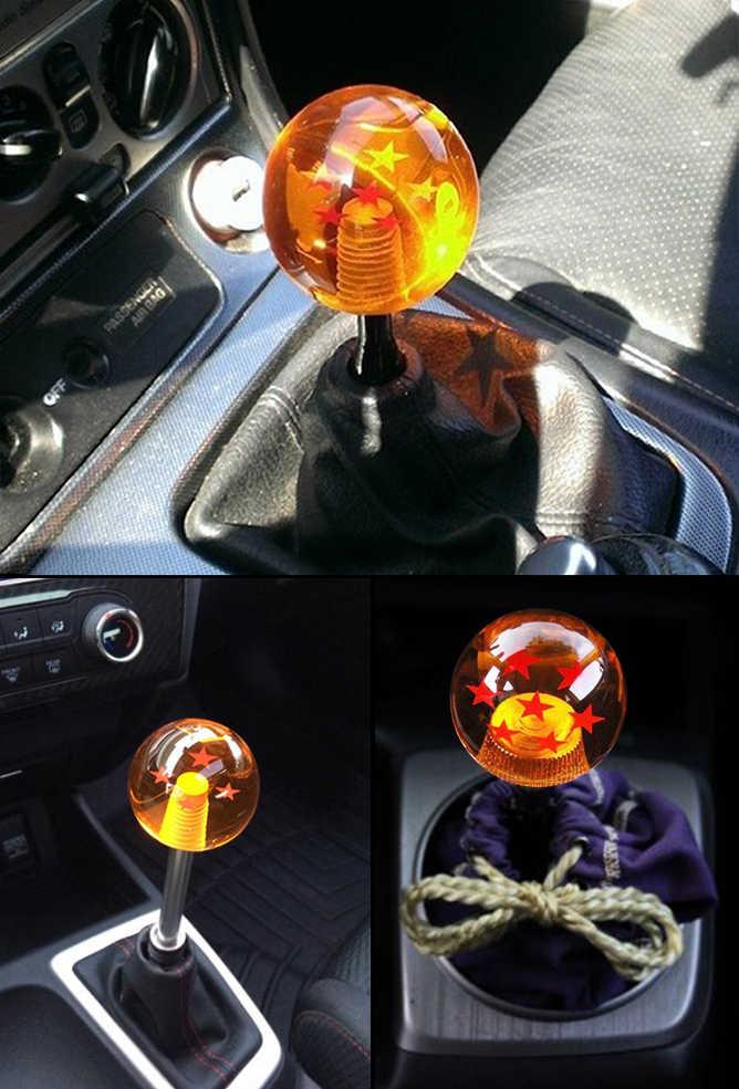 New arrived Dragon ball Z rare custom gear shift knob 54mm Diameter 1-7  star Acrylic M12x1 25 for universal car
