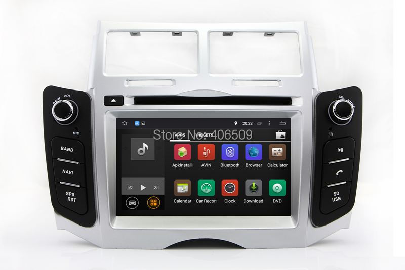 android 8 0 car dvd player for toyota yaris 2005 2006 2007. Black Bedroom Furniture Sets. Home Design Ideas