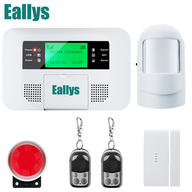 Android IOS App Wireless GSM Home Alarm System SIM Smart Home Burglar Security Alarm System Kit PIR/door Sensor wireless gsm sms burglar alarm home security system with pir motion sensor door magnet sensor app control ios android
