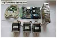 High Nema 23 Wantai Stepper Motor 270oz In 3 0A 3 Axis Driver Board CNC