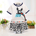 Clothing set Kids clothes Children sets Summer Cotton Printed T-shirts+ pants two piece suit Girls clothing set Boys star suits